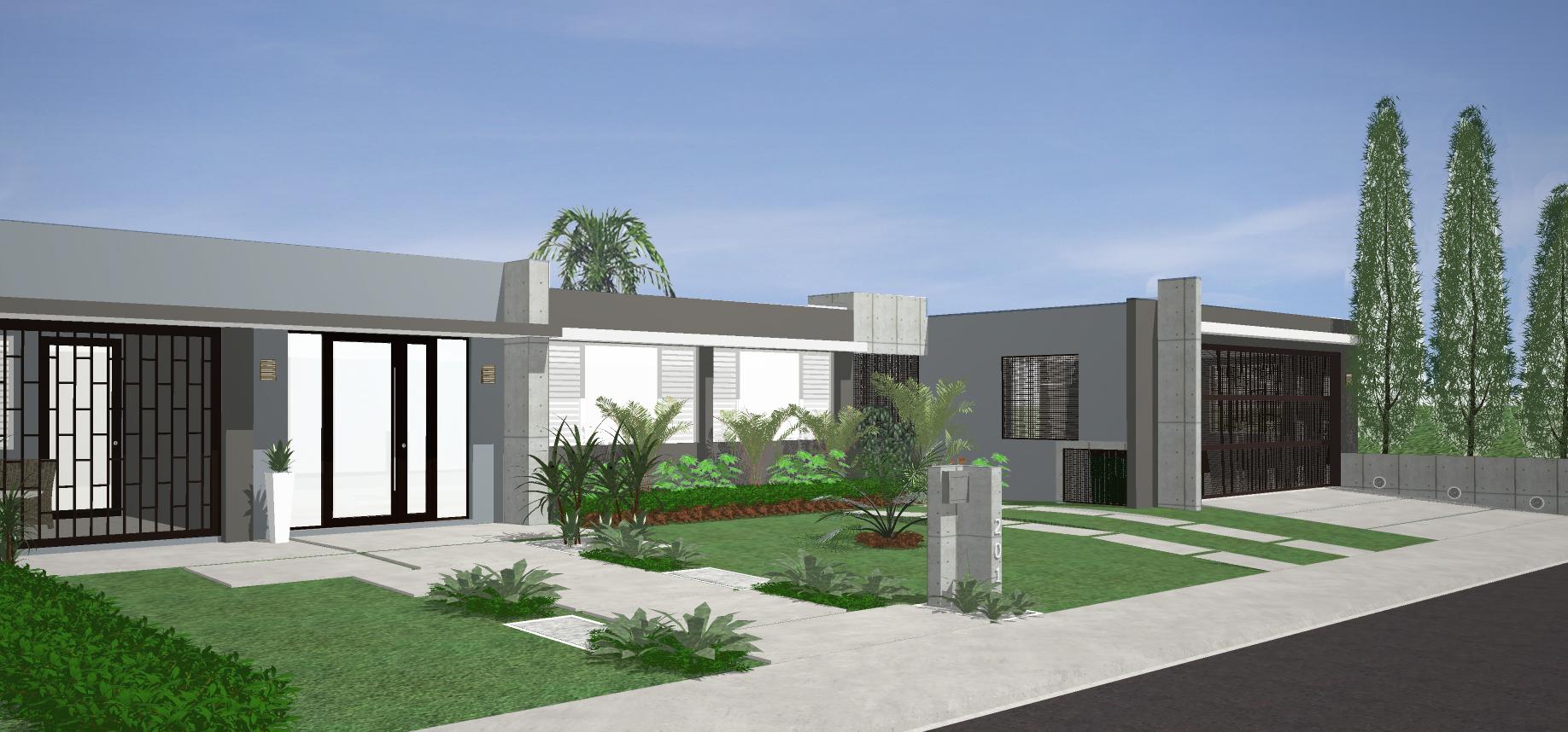 Diseño de Fachada: Residencia de Juan Gómez