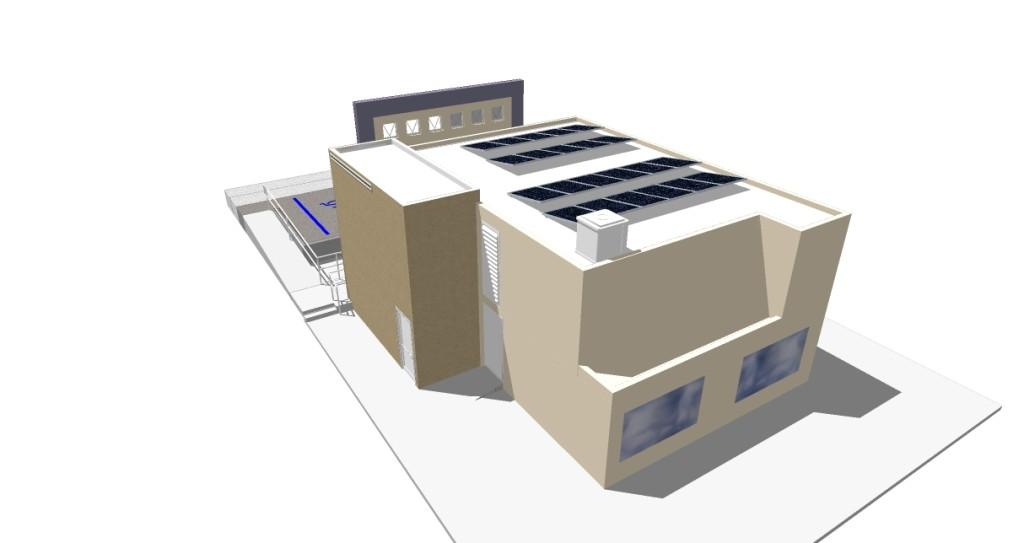 Vista Aerea de la instalación de Paneles Fotovoltaicos