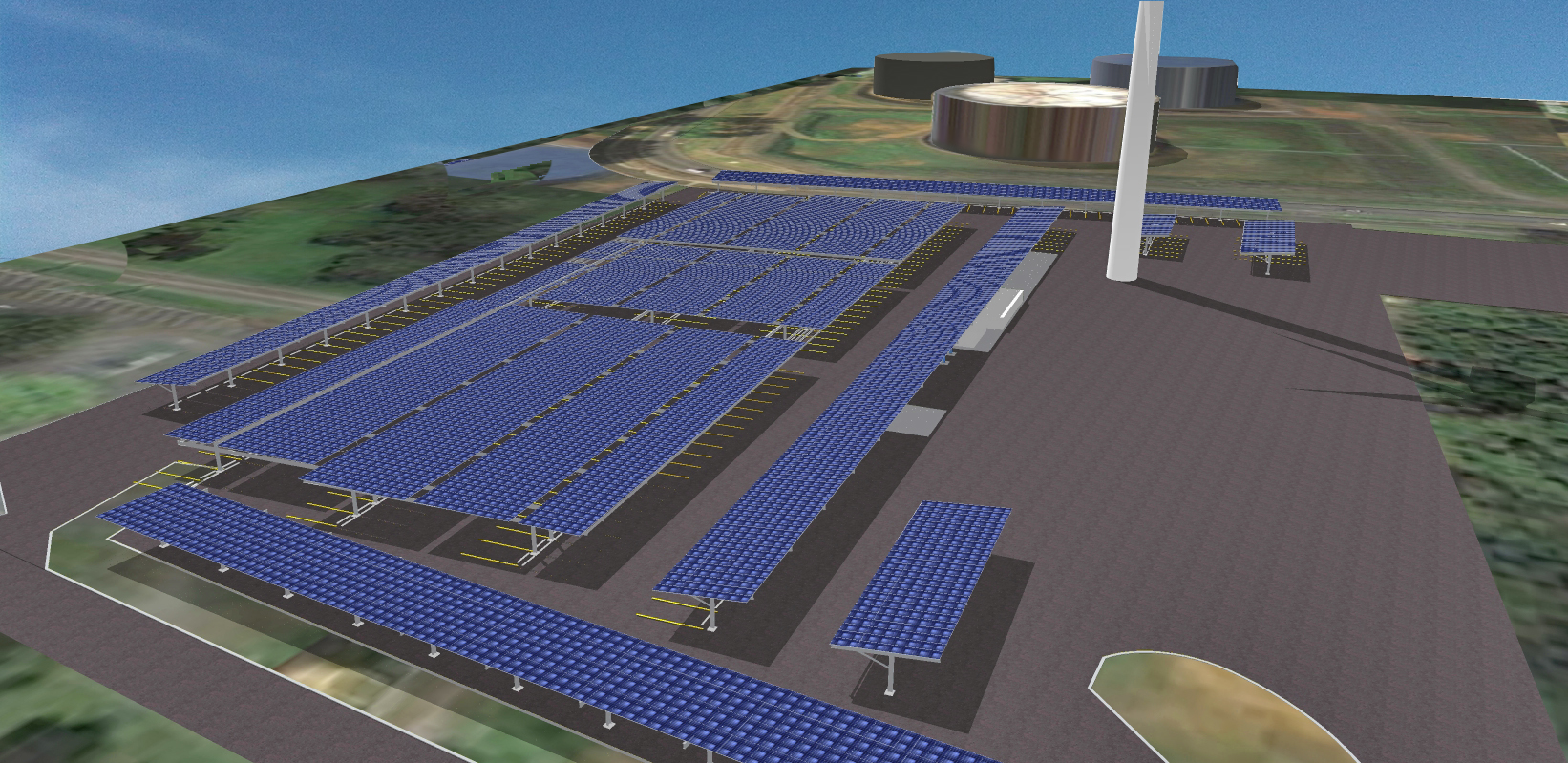 Fort Buchanan 3D Model Photovoltaic Installation