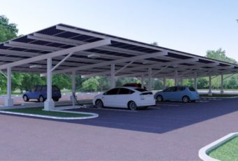 Propuesta: Modelo Tridimensional de una instalación fotovoltaica en un estacionamiento en Gainesville, Florida