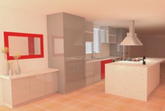 Remodelación de una cocina: Residencia de la Familia Meléndez