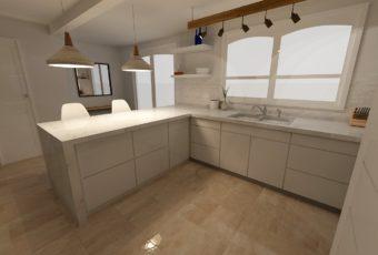 Remodelación de una cocina: Residencia de la familia Torres